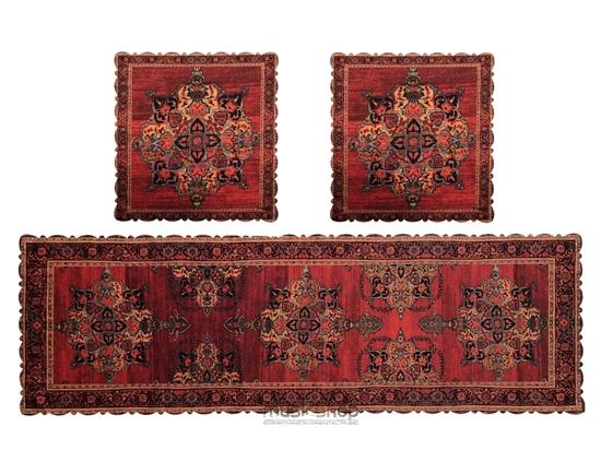 Bild von Set of traditional design Runner Table Cover Cloth -velvet 2